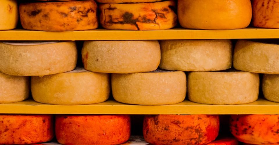 Portuguese cheese in a delicatessen shop near Bolhão Market