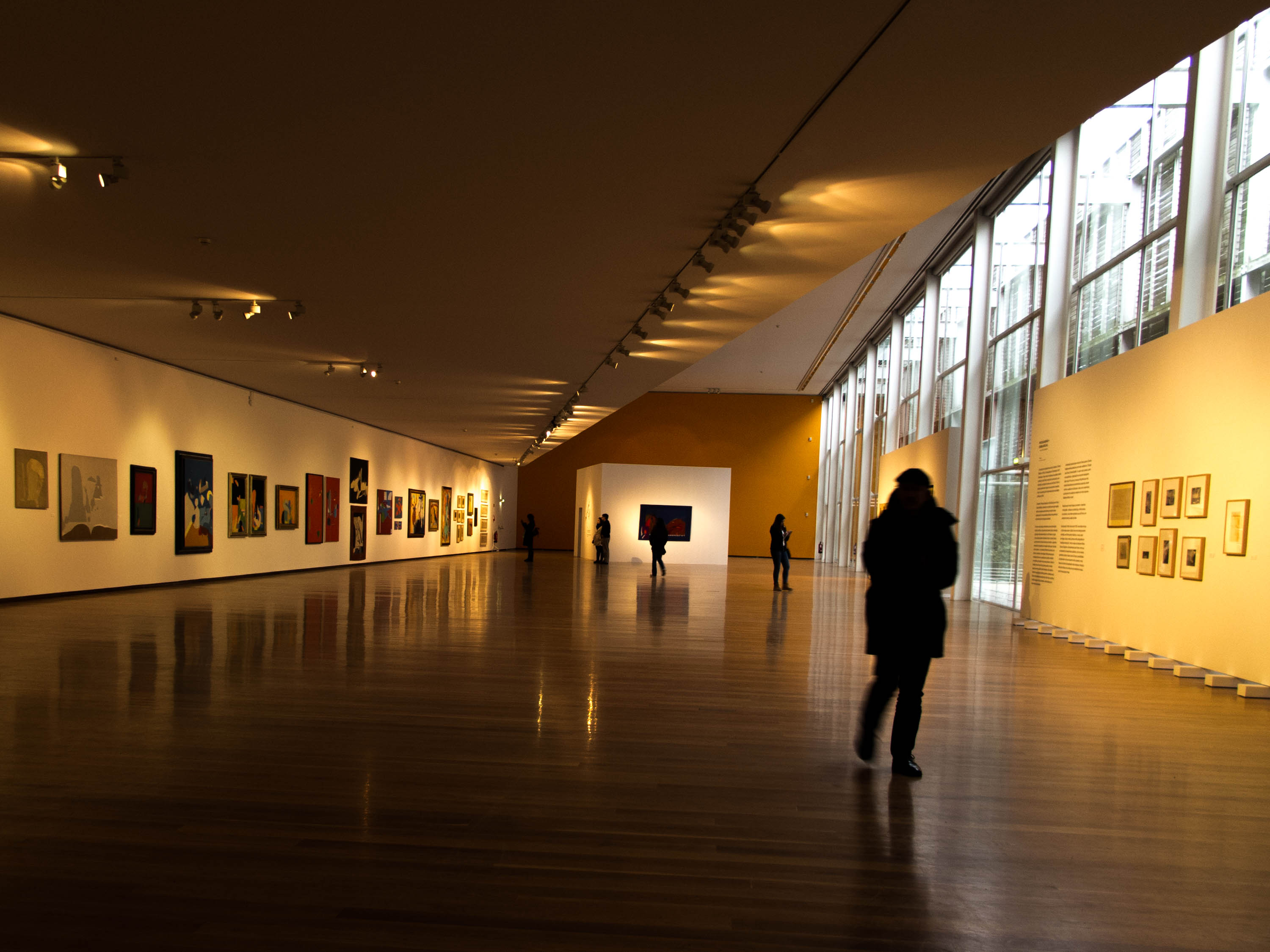 The inside of the municipal art gallery