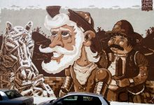A 130 square meter representation of D. Quixote and his sidekick Sancho Pança