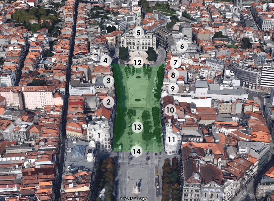 3D Map of Avenida dos Aliados