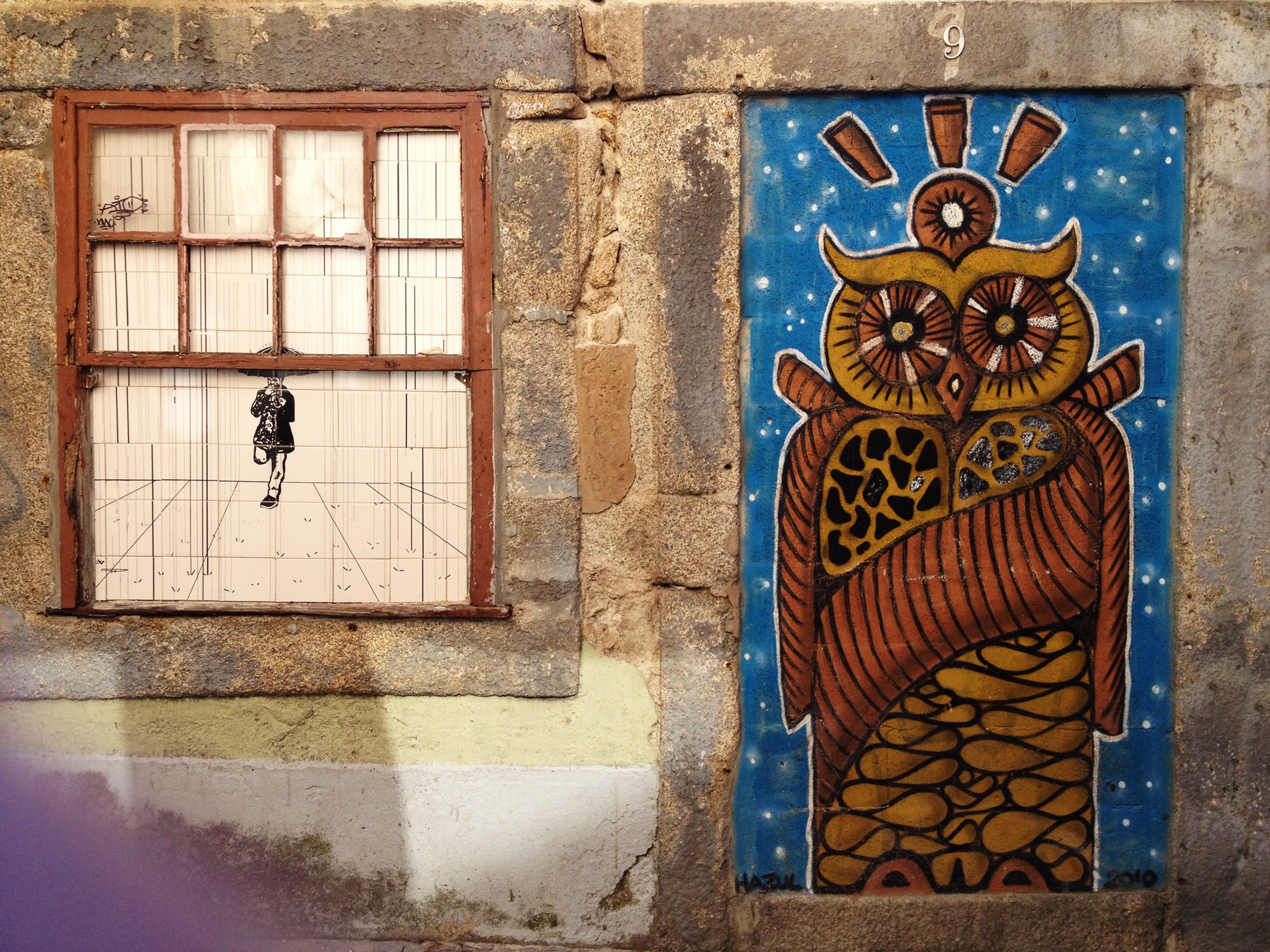 Street artists like Hazul, use abandoned building's door frames as a canvas to murals