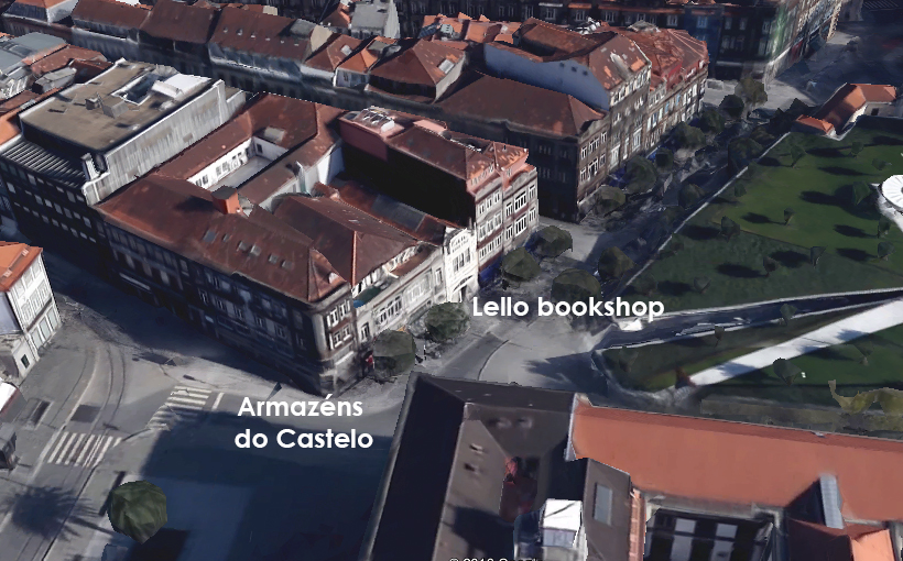 3d map showing Lello and Armazéns do castelo