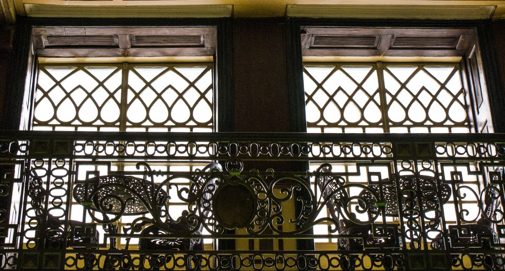 A decoração Art Déco da Mezzanine.